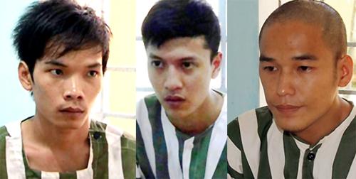Hai đồng phạm của Nguyễn Hải Dương (giữa) không ít lần muốn dừng tay thảm sát. Ảnh: Hoàng Trường