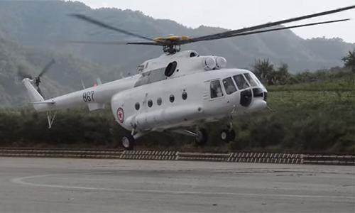 Trực thăngMil Mi-17của Air Kyoro