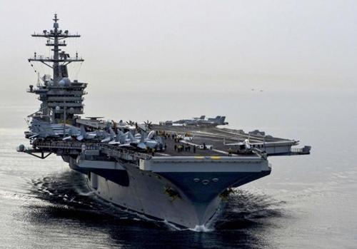 Tàu sân bay hạt nhân USS Theodore Roosevelt của Mỹ. Ảnh: Reuters