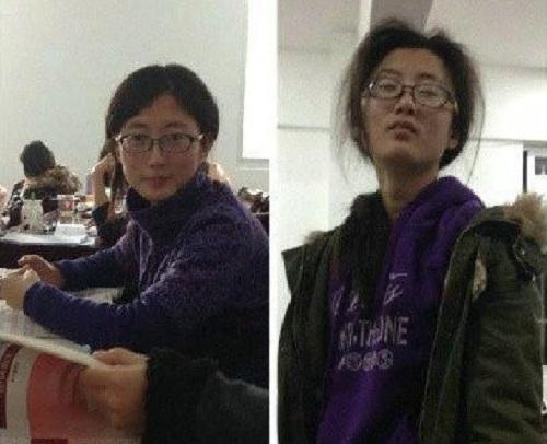 Sinh viên trước và sau kỳthi.