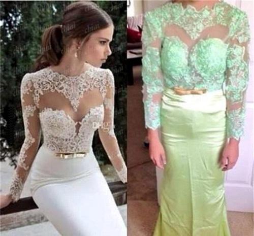 Hình ảnh chiếc váy ren gợi cảm, tinh tế được rao bán khác xa với thực tế.