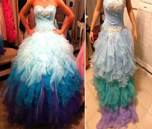 Cũng là váy chuyển màu cả thôi.