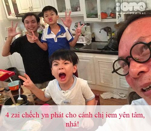 Bố Trần Lực không chỉ kể chuyện hài hước mà còn sử dụng ngôn ngữ rất xì tin.