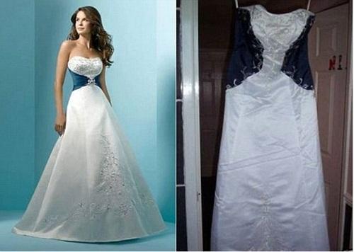 Chiếc váy cưới kiêu sa trên mạng và thực tế phũ phàng.