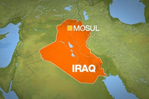 Vị trí thành phố Mosul. Đồ họa: Al Jazeera
