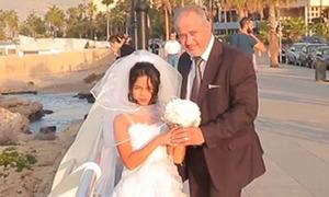 Cô dâu 12 tuổi và chú rể tóc muối tiêu gây chú ý ở Lebanon