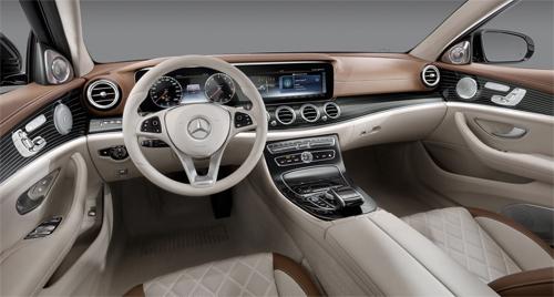 Mercedes tung ảnh nội thất E-class 2017.