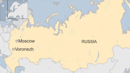 Vị trí vùng Voronezh, miền nam Nga. Đồ hoạ: BBC