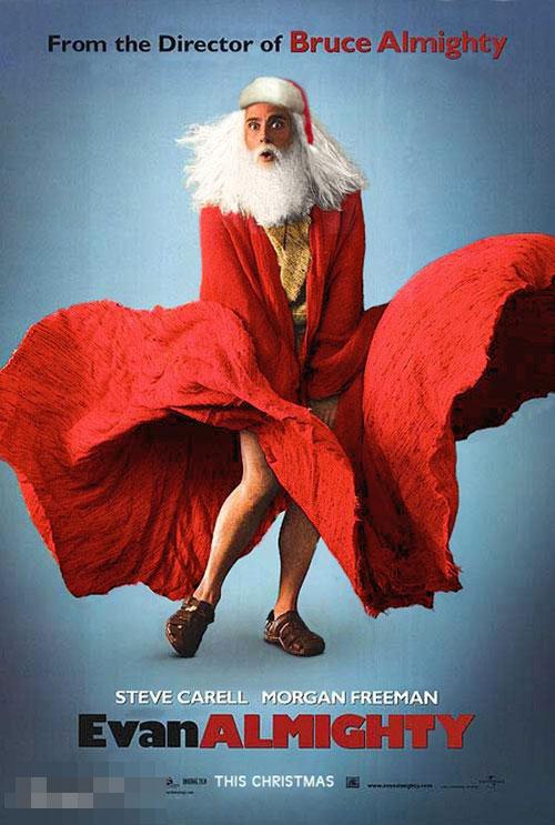 Ông già Noel 'e thẹn' khi bị cơn gió làm tốc váy.