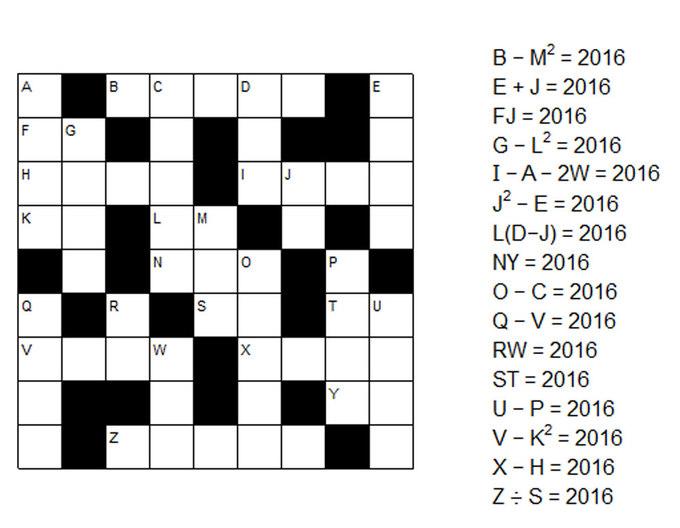 Bài toán về năm 2016 - năm tam giác