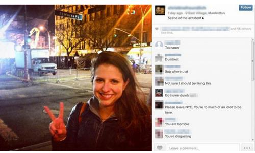 Việc chụp ảnh tươi cười trước quang cảnh vụ tai nạn khiến cô gái nhận không ít 'gạch đá' từ dư luận.