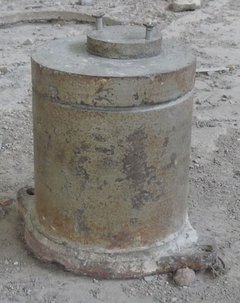 Thiết bị chứa nguồn Cs-137. Ảnh: Sở KHCN Bắc Kạn.