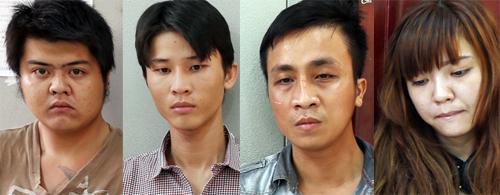 4 người bị bắt giữ. Ảnh: Nguyệt Triều