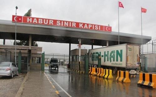 Cửa khẩu Habur được mở cửa hạn chế hôm qua. Ảnh: DHA