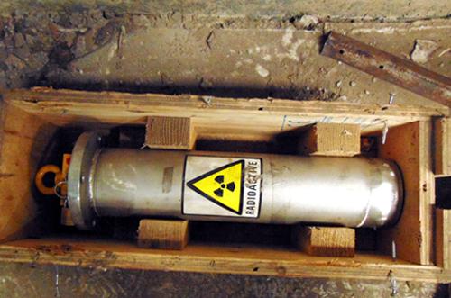 Thiết bị chứa phóng xạ bị mất ở Vũng Tàu đang được khẩn cấp truy tìm. Ảnh: Xuân Mai.