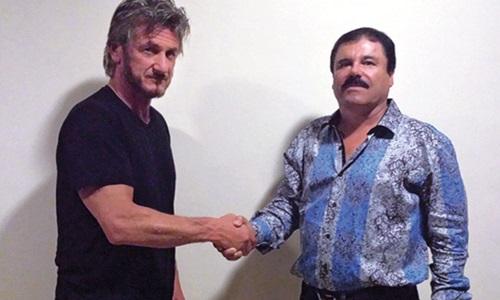 Diễn viên Hollywood Sean Penn (trái) trong cuộc gặp mặt với trùm ma túy Joaquin Guzman. Ảnh:Rolling Stone