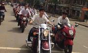 Đoàn siêu môtô đầu trần dự đám cưới 'khủng' ở Hà Tĩnh