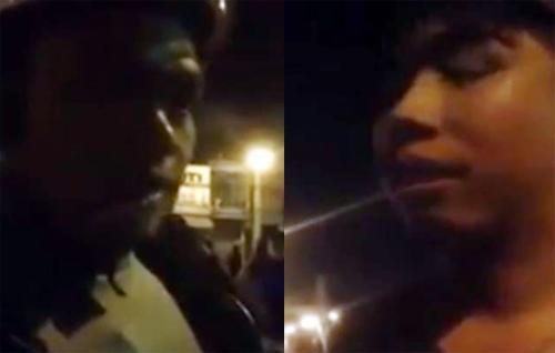 Hai cảnh sát hình sự xuất hiện trong clip.