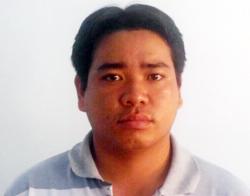Nguyễn Hoàng Hôn tại công an. Ảnh: C.A