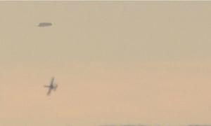 Máy bay quân sự rượt đuổi UFO trên bầu trời Bulgaria