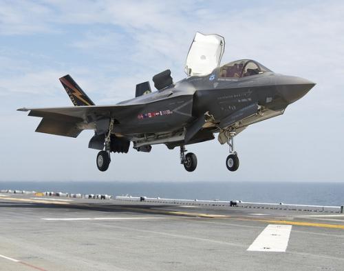 F-35B hạ cánh. Ảnh: LockheedMartin