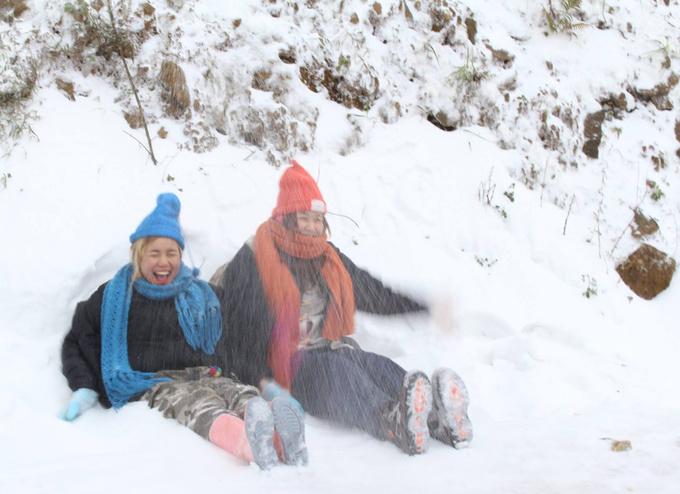 Hàng loạt điểm có tuyết rơi