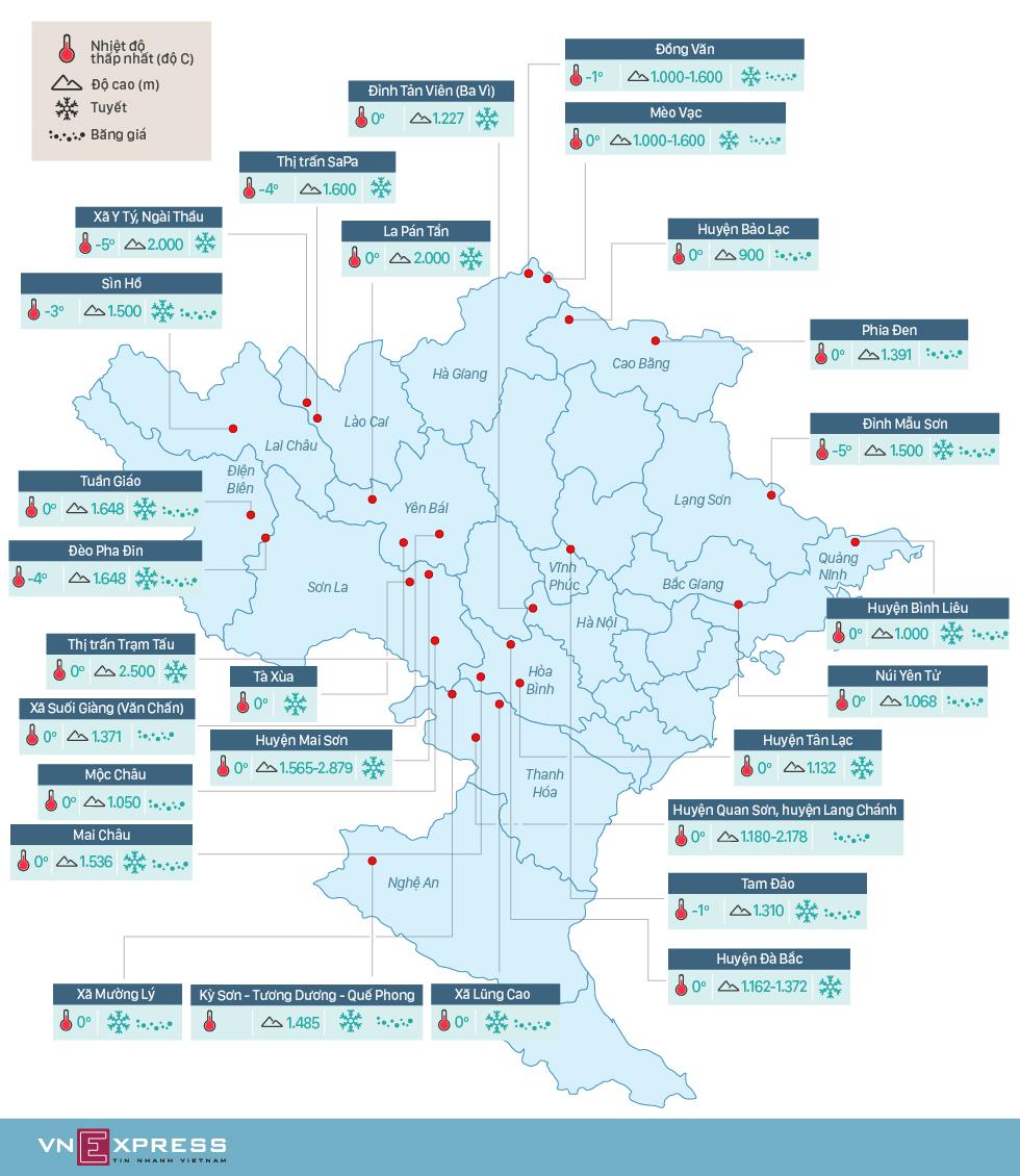 Hơn 20 địa điểm có băng tuyết ở Việt Nam