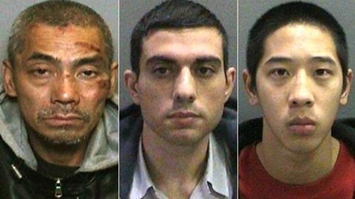 3 tù nhân vượt ngụcBac Duong, Hossein Nayeri vàJonathan Tieu. Ảnh:AP
