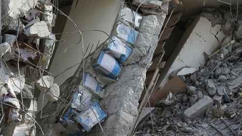 Các căn dầu ăn được phát hiện trong cột của tòa nhà. Ảnh: AP