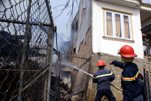 Hiện trường vụ cháy khiến căn nhà ông Kiên bị thiêu rụi hoàn toàn. Ảnh: Quốc Dũng