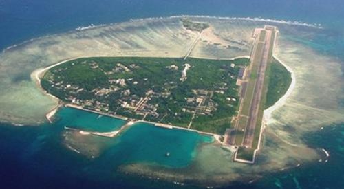 Đảo Phú Lâm nhìn từ trên cao. Ảnh: People's Daily.