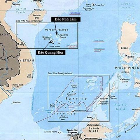 Vị trí đảo Phú Lâm và đảo Quang Hòa, quần đảo Hoàng Sa. Đồ họa: The Diplomat.