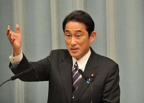 Ngoại trưởng Nhật Fumio Kishida. Ảnh: JapanTimes