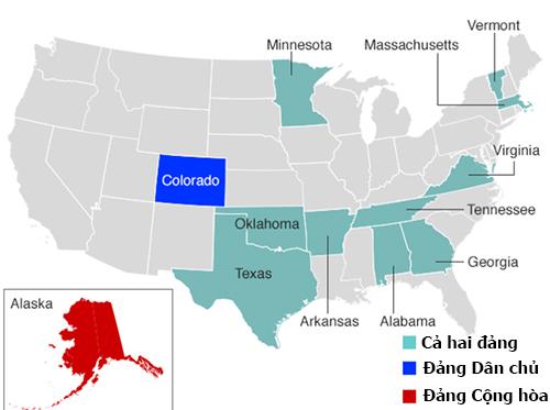 12 bang tham gia bầu cử ngày Siêu Thứ ba. Đồ họa: BBC.