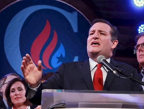 Thượng nghị sĩ Ted Cruz phát biểu ngày Siêu Thứ ba. Ảnh: Reuters