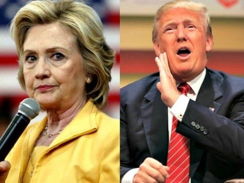 Tỷ phú Donald Trump (trái), ứng viên tổng thống thuộc đảng Cộng hòa, và bà Hillary Clinton, ứng viên tổng thống thuộc đảng Dân chủ. Ảnh: AP.