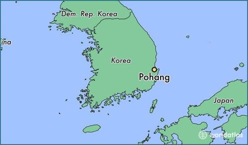 Vị trí thành phố Pohang. Đồ hoạ: WorldAtlas