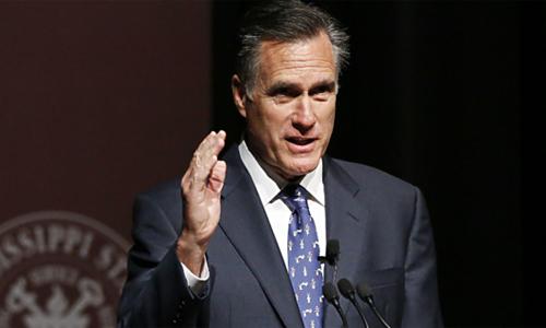 Cựuứng viên tổng thống Mỹ Mitt Romney. Ảnh: AP