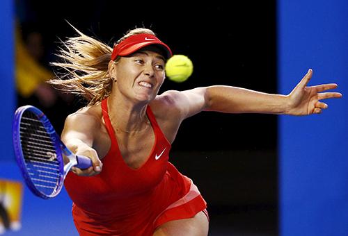 MariaSharapova tại giảiAustralia Mở rộng tháng 1/2015. Ảnh: Reuters