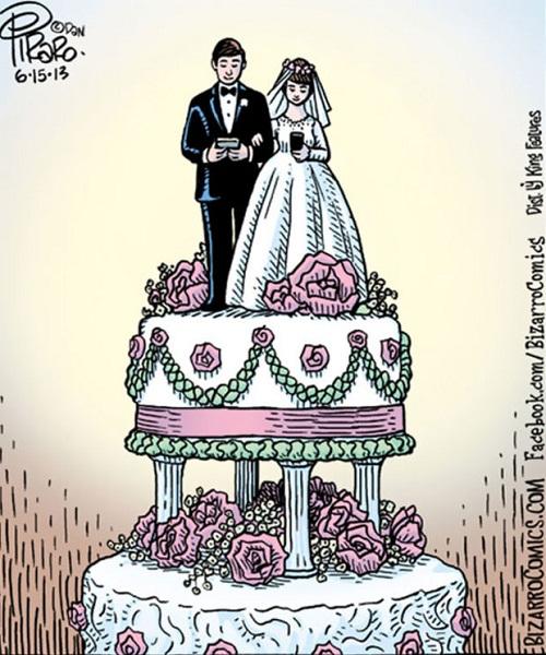 Bánh cưới thời đại mới.