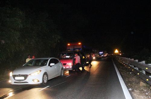 Đèo Bảo Lộc kẹt xe hơn 10km. Ảnh: Hoài Thanh