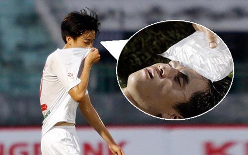 Cầu thủ Phan Thanh Hậu.