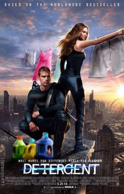 Khi các anh hùng trong phimDivergent chuyển sang bán nước giặt quần áo.