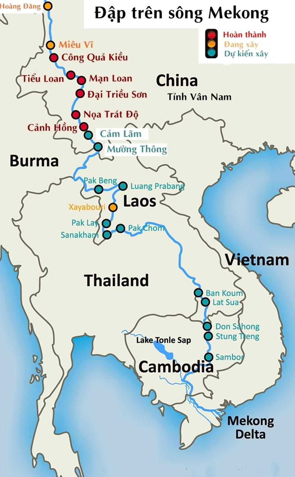 Các đập thủy điện trên sông Mekong