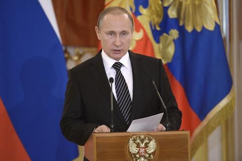 Tổng thống Nga Vladimir Putin nói trong buổi lễ tuyên dương binh sĩ từ Syria trở về nước tại Điện Kremlin