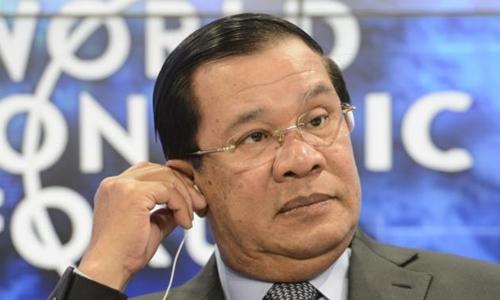 Thủ tướng Campuchia Hun Sen. Ảnh: AP.