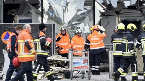 Sân bay quốc tế Zaventem vẫn đóng cửa sau vụ nổ. Ảnh: Reuters
