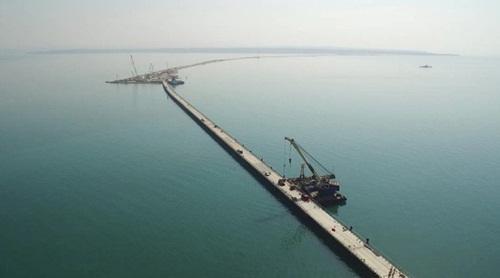 Công trình xây dựng dự kiến nối Crimea với