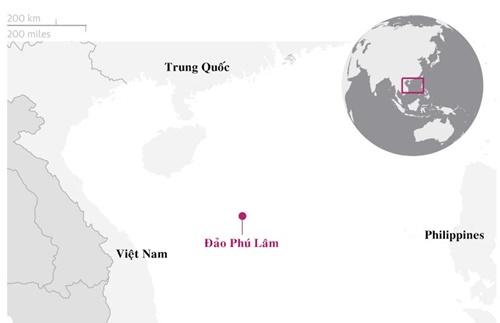 Vị trí đảo Phú Lâm thuộc quần đảo Hoàng Sa của Việt Nam. Đồ họa: Guardian