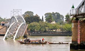 Cầu Ghềnh sẽ được tháo bỏ vào ngày mai